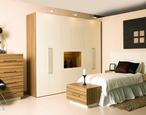 Bedroom design limerick cream high gloss bedrooms for High gloss bedroom furniture